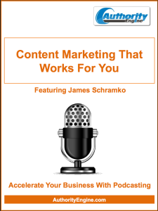 Action Steps Guide to Content Marketing that Works for You